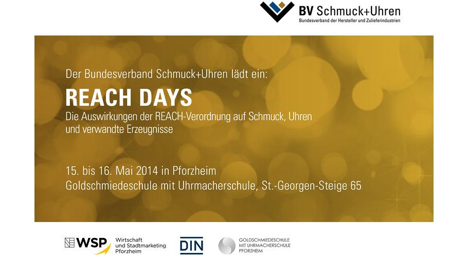 Einladung  REACH DAYS 2014
