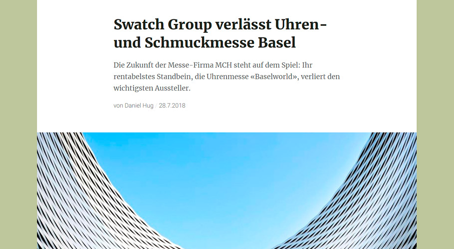 Laut NZZ verlässt Swatch Group die Baselworld