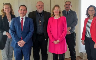 Vertreter des Bundesverbandes Schmuck- und Uhren zu Besuch in der Arbeitsagentur in Pforzheim