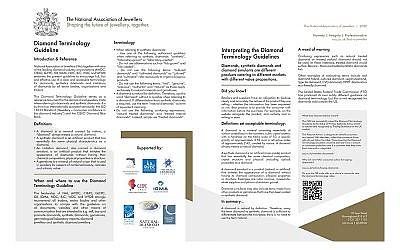 Diamond Terminology Guideline erhält in Großbritannien den Status einer primären Behördlichen Richtlinie